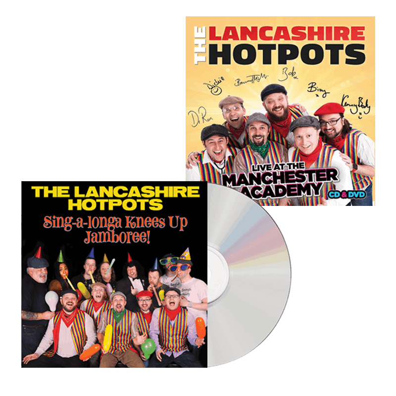 Buy Online The Lancashire Hotpots - Singalonga Knees Up Jamboree & DVD Bundle