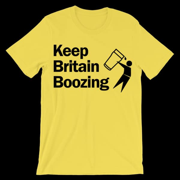 Buy Online The Lancashire Hotpots - Keep Britain Boozing t-shirt