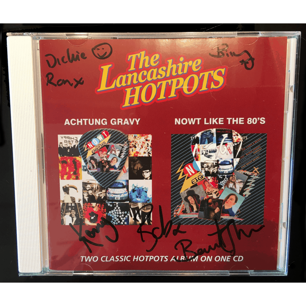 Buy Online The Lancashire Hotpots - Achtung Gravy & NOWT Like The 80s (Signed) + Limited Edition Plectrums