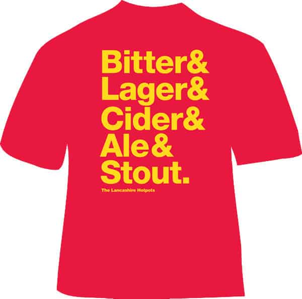 Buy Online The Lancashire Hotpots - Bitter Lager Cider Ale Stout T-Shirt
