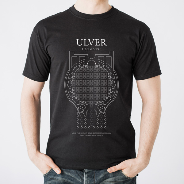 Buy Online Ulver - Ulver black t-shirt with white print