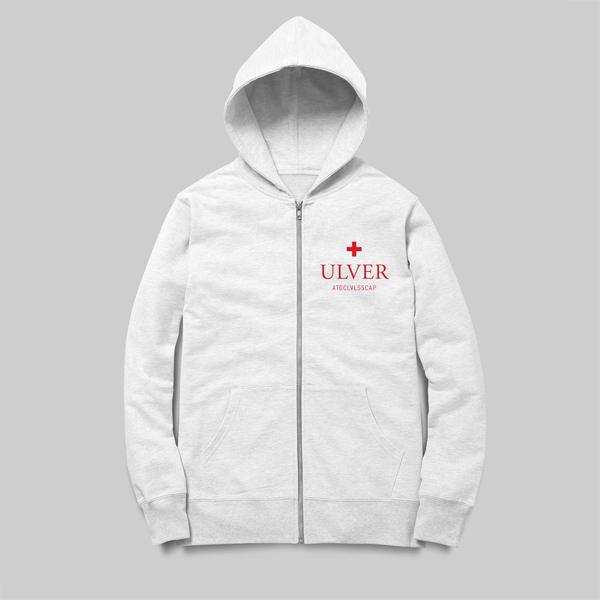 Buy Online Ulver - Ulver white zip hoodie