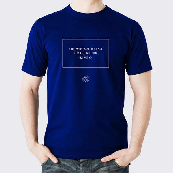 Buy Online KKKMO - KKKMO royal blue t-shirt