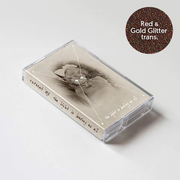 Buy Online Current 93 - The Light Is Leaving Us All Red & Gold Glitter in Transparent Shell
