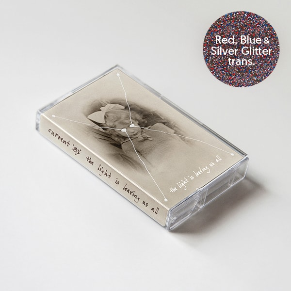 Buy Online Current 93 - The Light Is Leaving Us All - Red, Blue & Silver Glitter in Transparent Shell