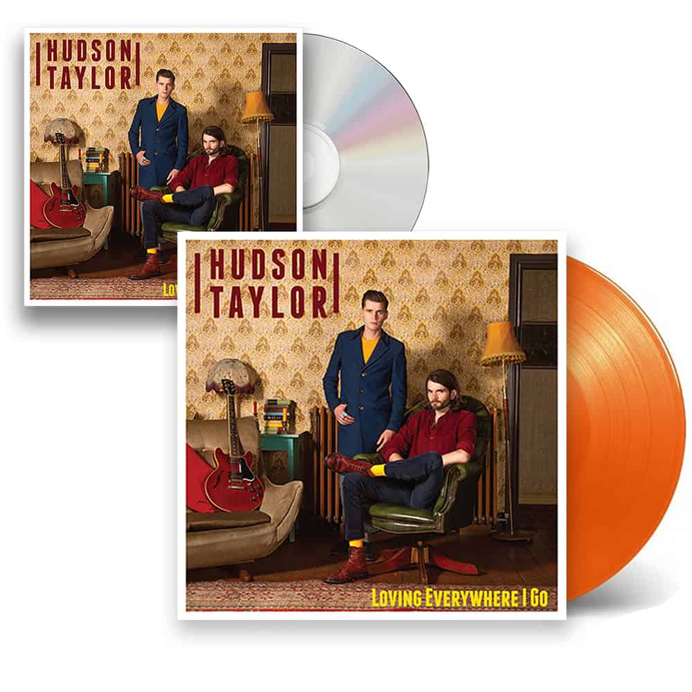 Buy Online Hudson Taylor - Loving Everywhere I Go CD + Orange Vinyl + Postcard