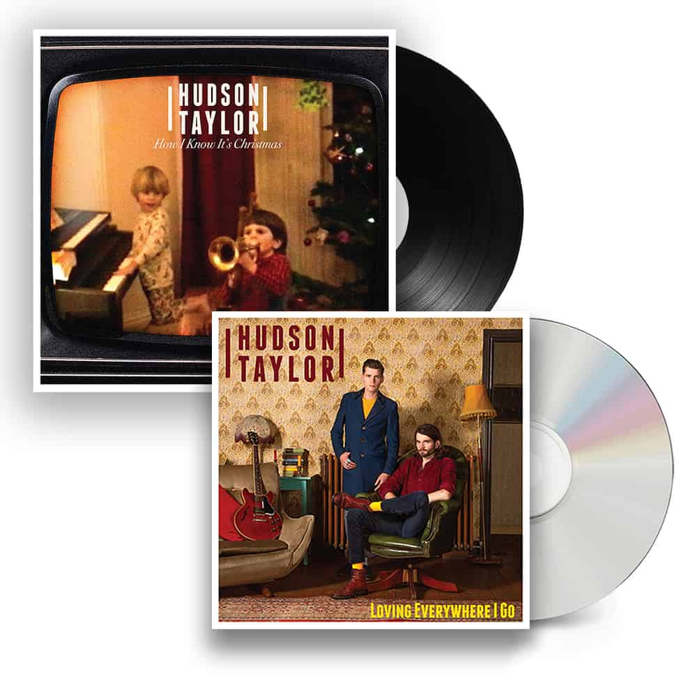 Buy Online Hudson Taylor - Loving Everywhere I Go CD + Christmas 7-Inch Single + Signed Postcard