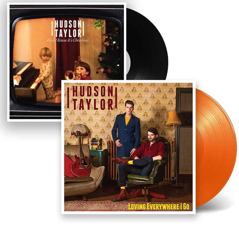 Buy Online Hudson Taylor - Loving Everywhere I Go Orange Vinyl + Christmas 7-Inch Single + Signed Postcard
