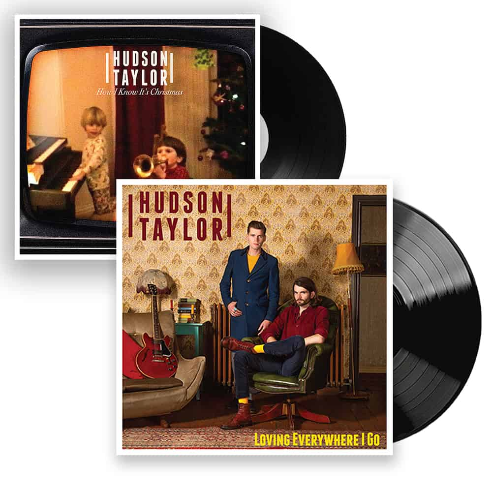 Buy Online Hudson Taylor - Loving Everywhere I Go Black Vinyl + Christmas 7-Inch Single + Signed Postcard