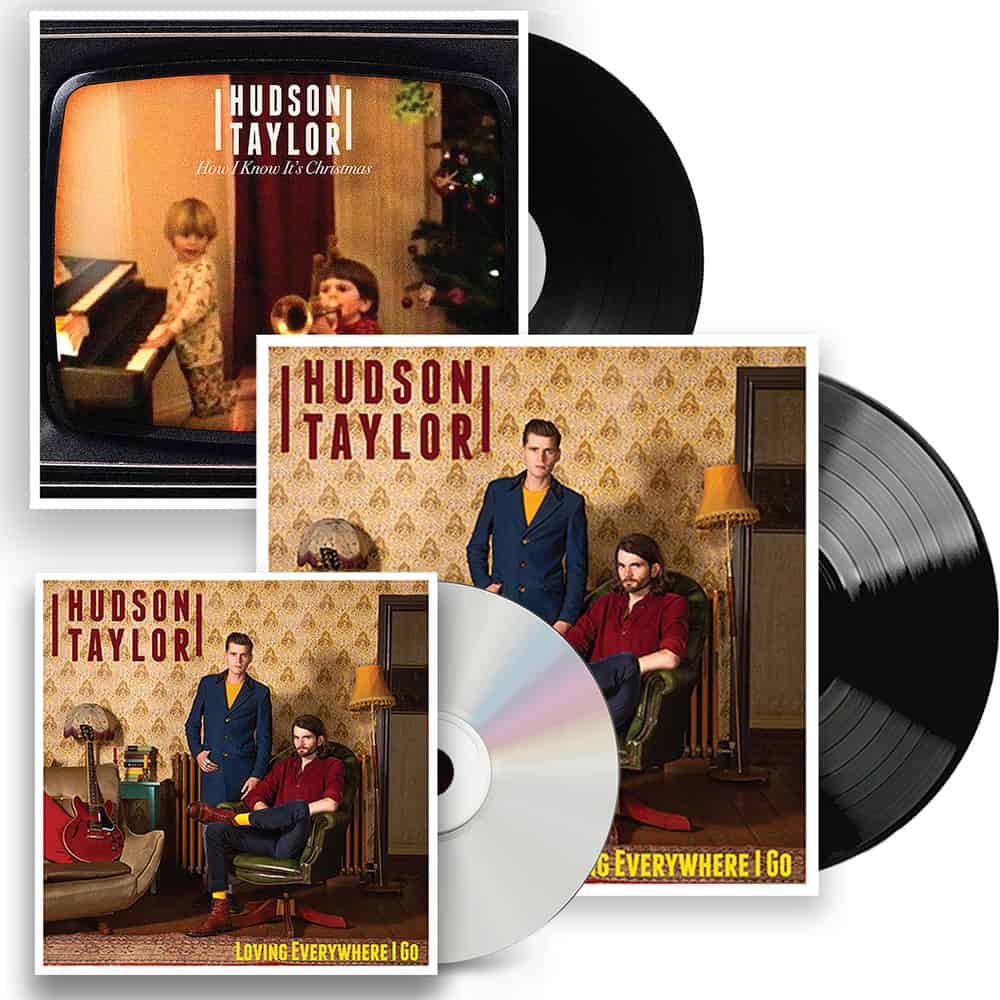 Buy Online Hudson Taylor - Loving Everywhere I Go Black Vinyl + CD + Christmas 7-Inch Single + Signed Postcard