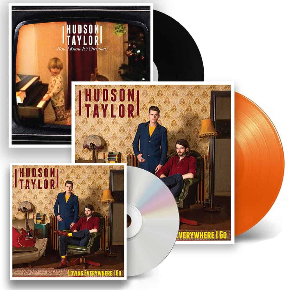 Buy Online Hudson Taylor - Loving Everywhere I Go Orange Vinyl + CD + Christmas 7-Inch Single + Signed Postcard