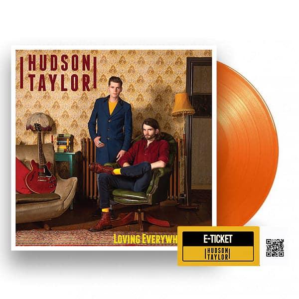 Buy Online Hudson Taylor - Loving Everywhere I Go Orange Vinyl + Album Party Ticket + Postcard