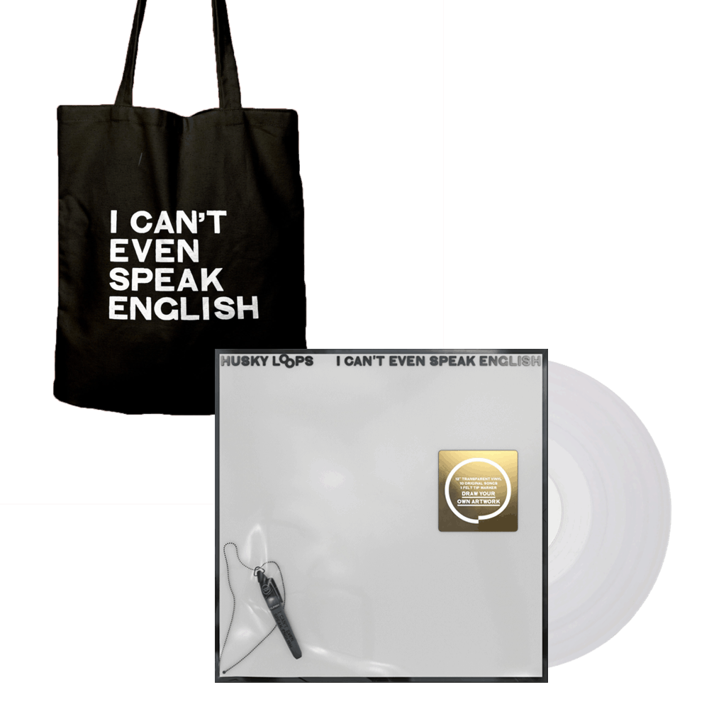 Buy Online Husky Loops - I Cant Even Speak English Vinyl + Tote Bag