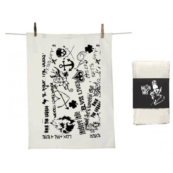 Buy Online Imelda May - Black & White Tea Towel