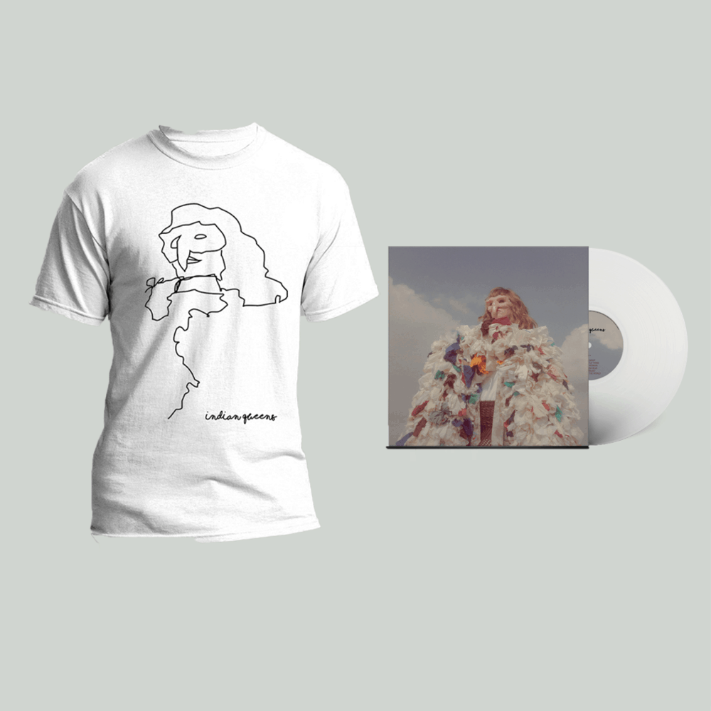 Buy Online Indian Queens - God Is A Woman White Vinyl + T-Shirt
