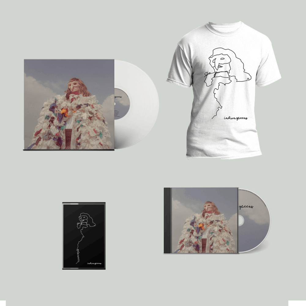 Buy Online Indian Queens - God Is A Woman White Vinyl + CD (Signed) + Cassette + T-Shirt