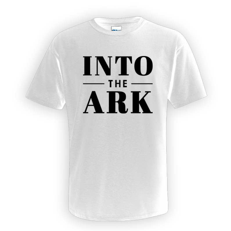 Buy Online Into The Ark - White Logo T-Shirt