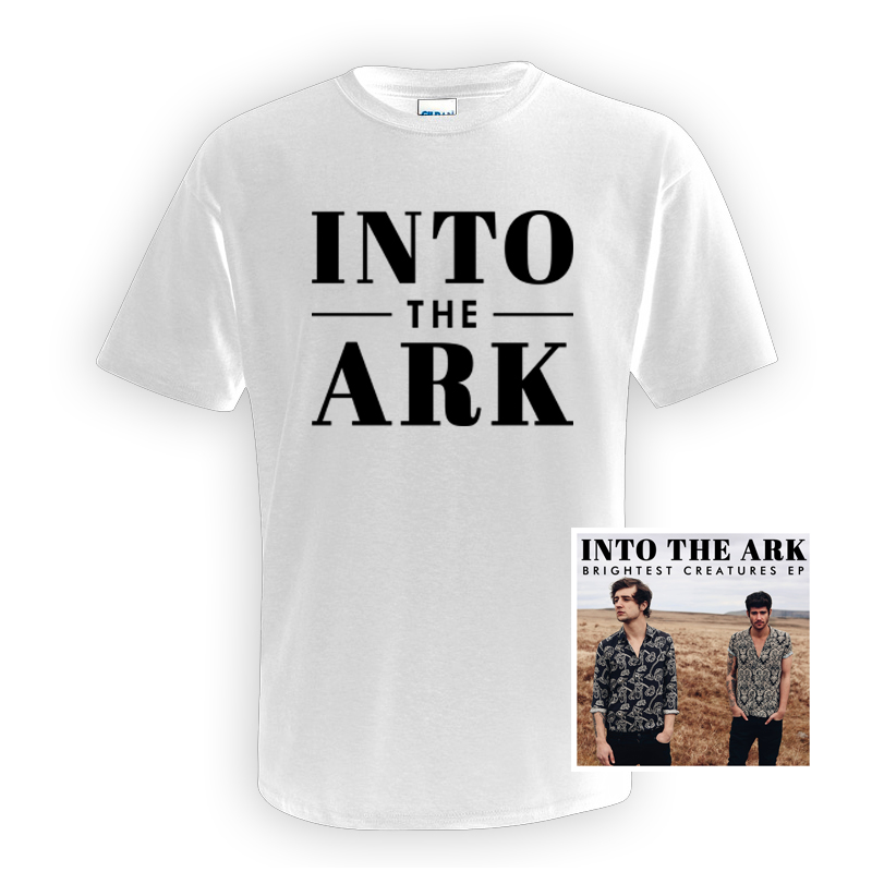 Buy Online Into The Ark - White Logo T-Shirt Bundle