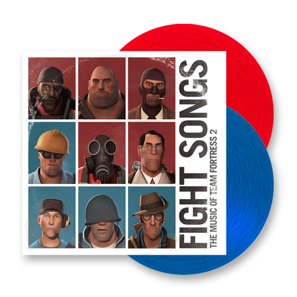 Buy Online Valve Studio Orchestra - Fight Songs: The Music Of Team Fortress 2 Double Colour Vinyl LP (with Red Poster)