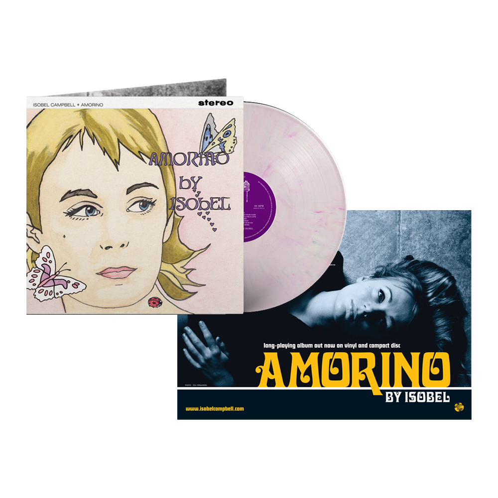Buy Online Isobel Campbell - Amorino Coloured Vinyl (Exclusive) + A4 Print (Signed)