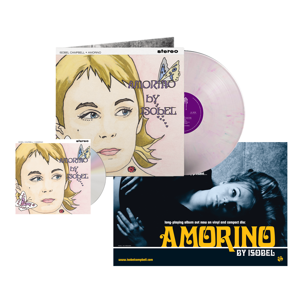 Buy Online Isobel Campbell - Amorino CD + Coloured Vinyl (Exclusive) + A4 Print (Signed)