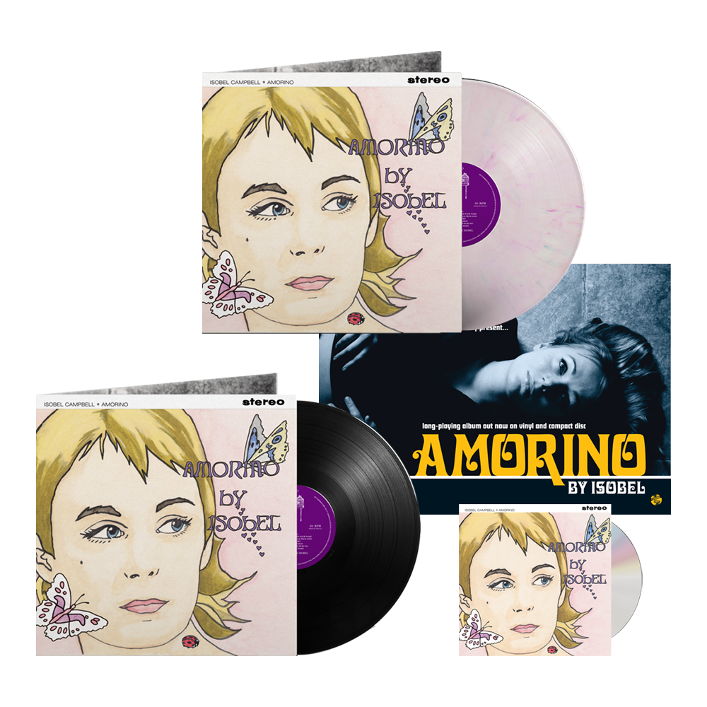 Buy Online Isobel Campbell - Amorino CD + Black Vinyl + Coloured Vinyl (Exclusive) + A4 Print (Signed)