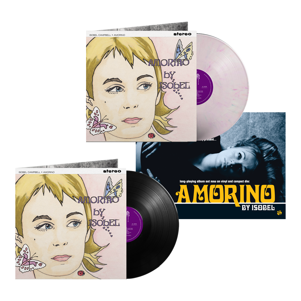 Buy Online Isobel Campbell - Amorino Black Vinyl + Coloured Vinyl (Exclusive) + A4 Print (Signed)