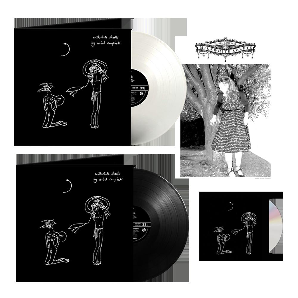 Buy Online Isobel Campbell - Milkwhite Sheets CD + Black Vinyl + Coloured Vinyl (Exclusive) + A4 Print (Signed)