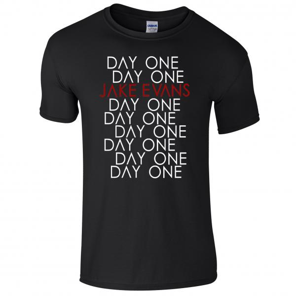 Buy Online Jake Evans - Day One Black T-Shirt