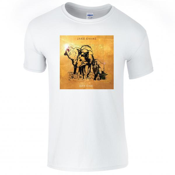 Buy Online Jake Evans - Day One Artwork White T-Shirt