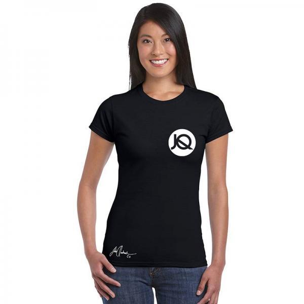 Buy Online Jake Quickenden - Logo Black Women's Slim-Fit Continental T-Shirt