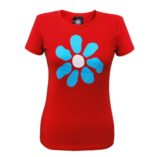 Buy Online James - Ladies Big Flower 2008 Tour Stereo Red T-Shirt