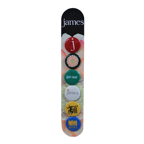 Buy Online James - 2013 Badge Set