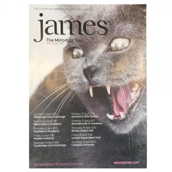 Buy Online James - Cat Tour Poster
