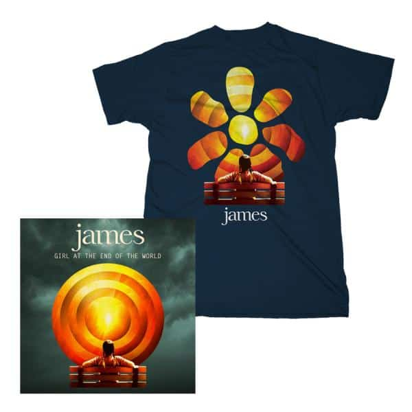 Buy Online James - Girl At The End Of The World CD/T-Shirt Bundle