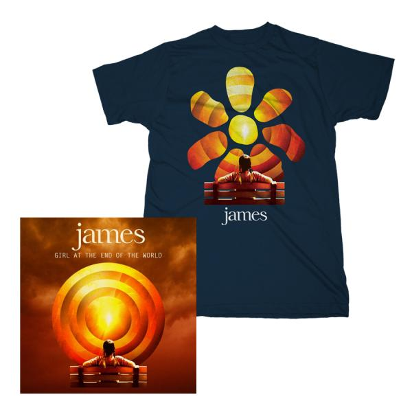 Buy Online James - Girl At The End Of The World LP/T-Shirt Bundle
