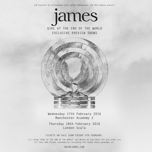 Buy Online James - Girl At The End Of The World Gig Ticket & VIP Experience
