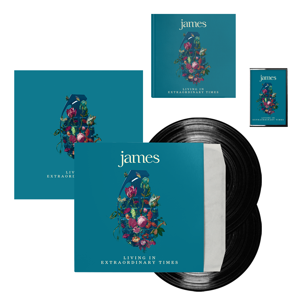 Buy Online James - Living In Extraordinary Times Deluxe CD + Vinyl + Cassette + Signed 12 x 12 Print