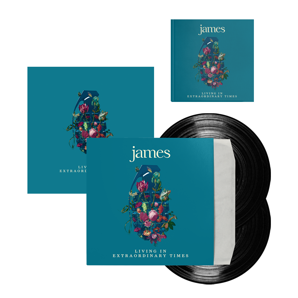 Buy Online James - Living In Extraordinary Times Deluxe CD + Vinyl + Signed 12 x 12 Print