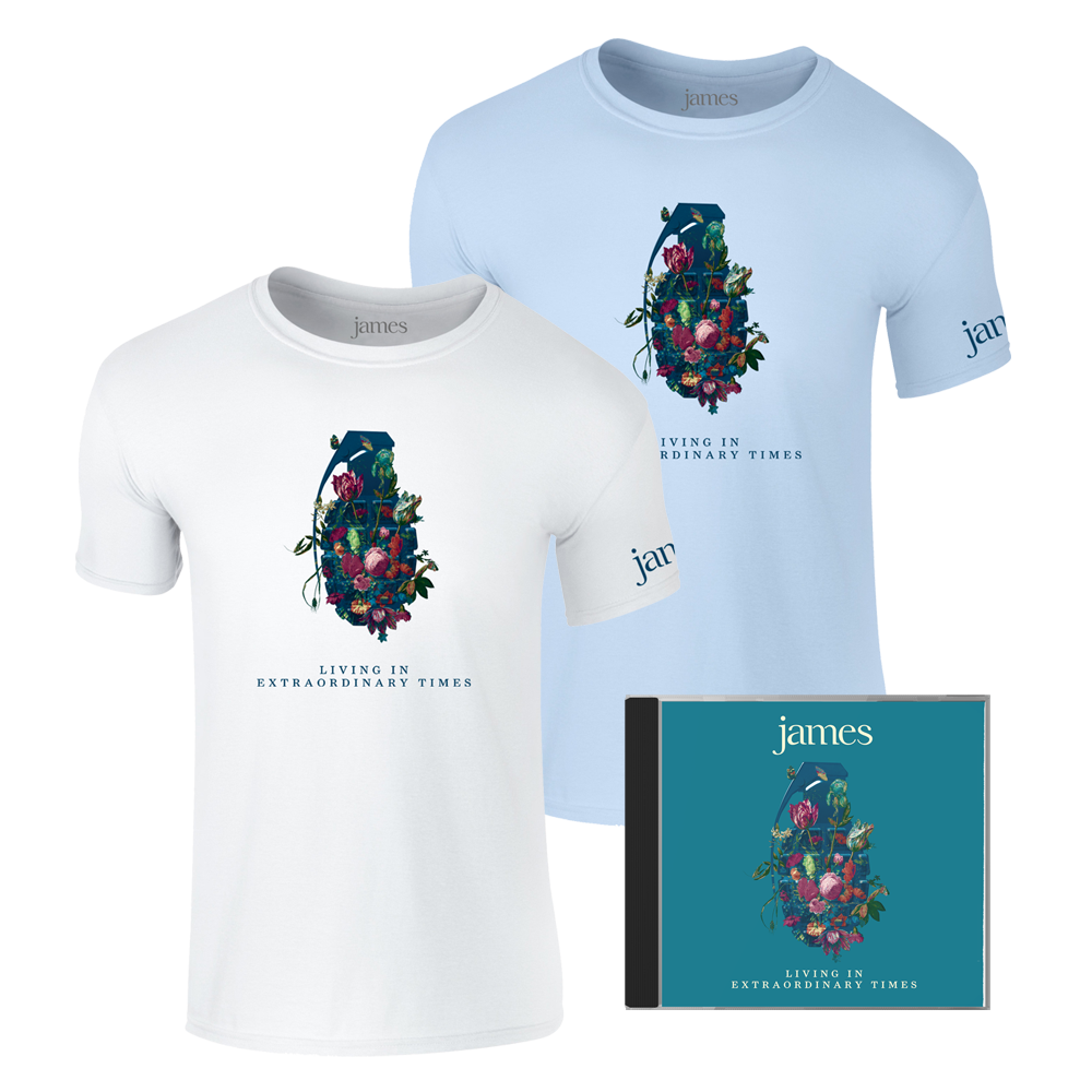 Buy Online James - Living In Extraordinary Times Standard CD + T-Shirt