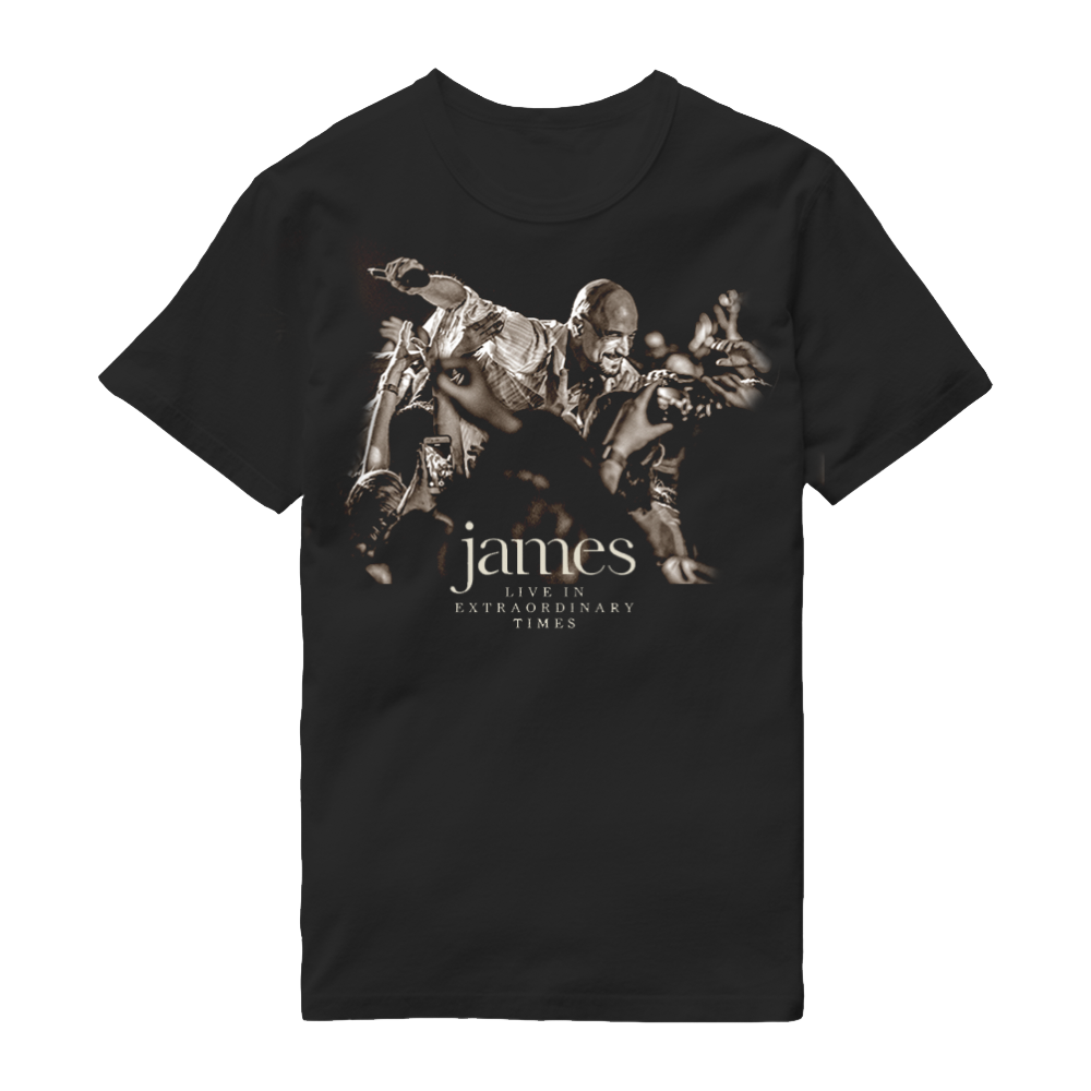 Buy Online James - LIVE In Extraordinary Times Black T-Shirt