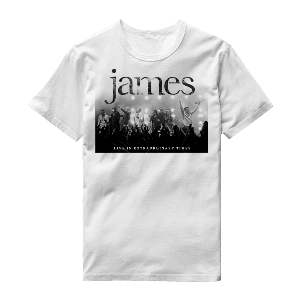 Buy Online James - LIVE In Extraordinary Times White T-Shirt