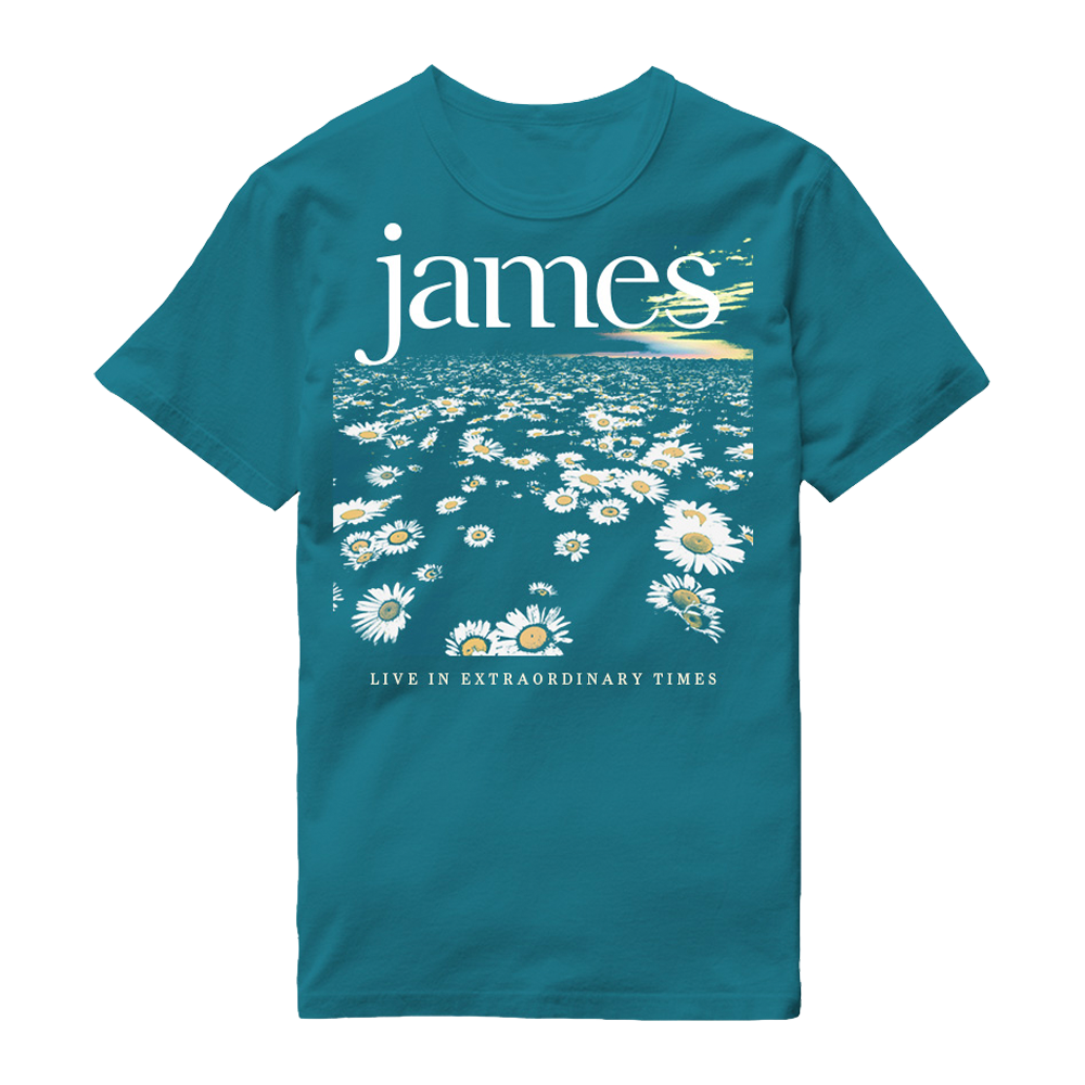 Buy Online James - LIVE In Extraordinary Times Blue Daisy T-Shirt