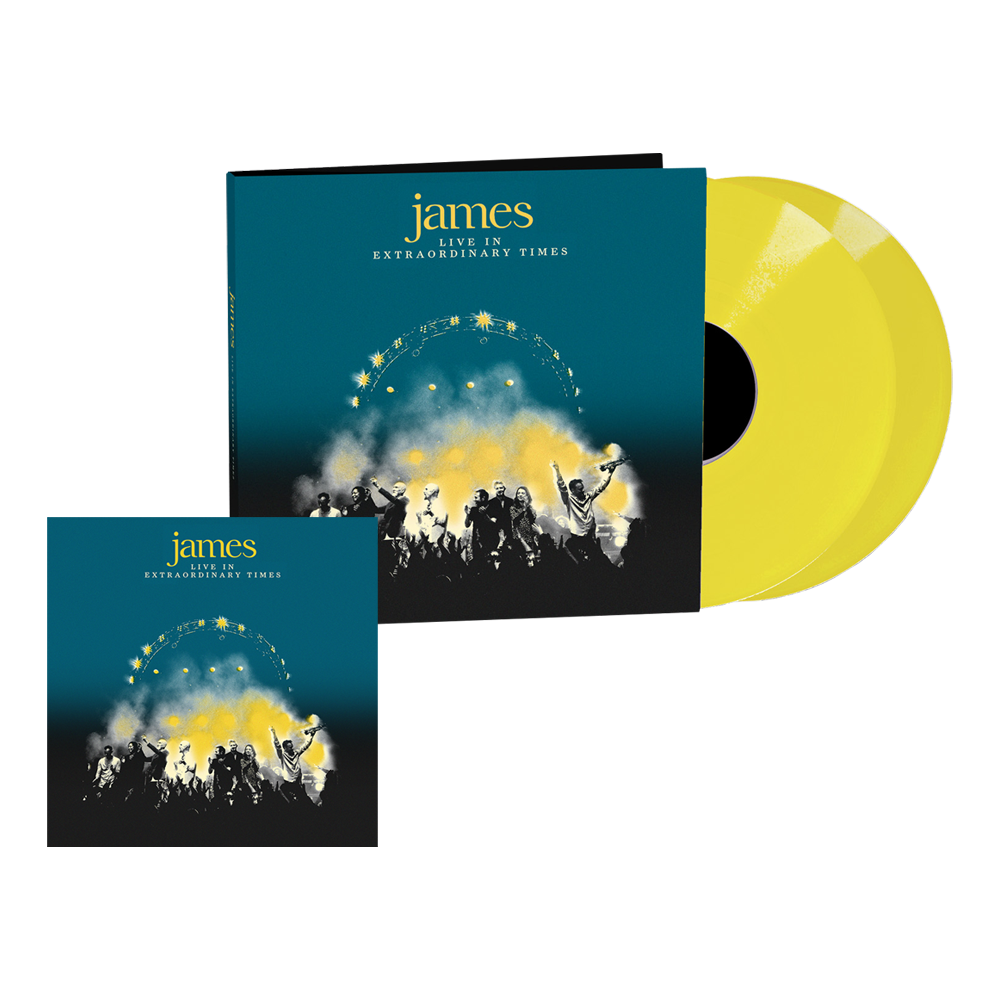 Buy Online James - LIVE In Extraordinary Times Yellow Double Vinyl + Deluxe Digital Album