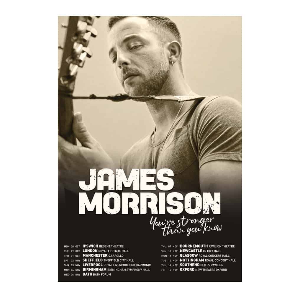 Buy Online James Morrison - Fall 2019 Tour Print  (Signed)