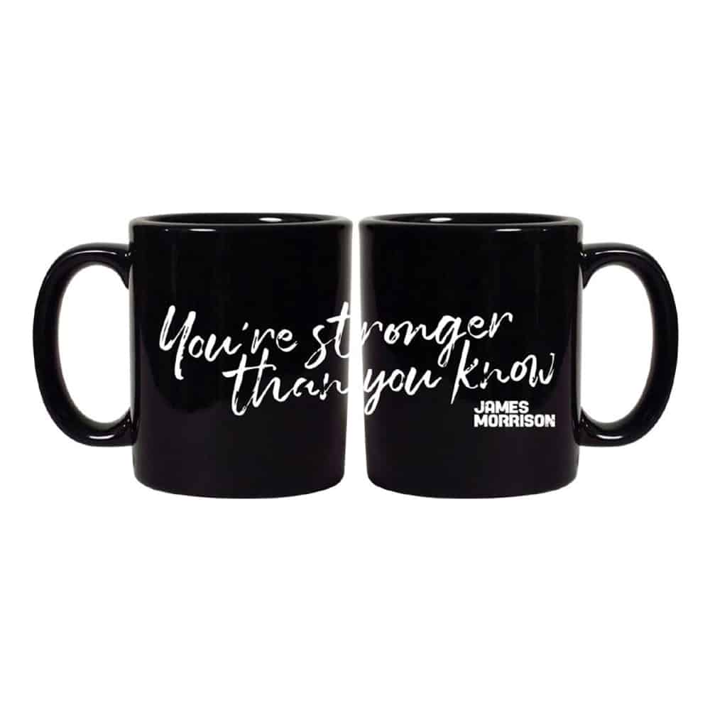 Buy Online James Morrison - You're Stronger Than You Know Black Mug
