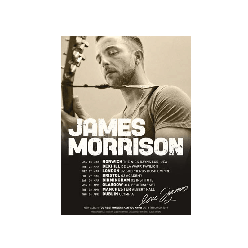 Buy Online James Morrison - Event Litho Print (Signed)