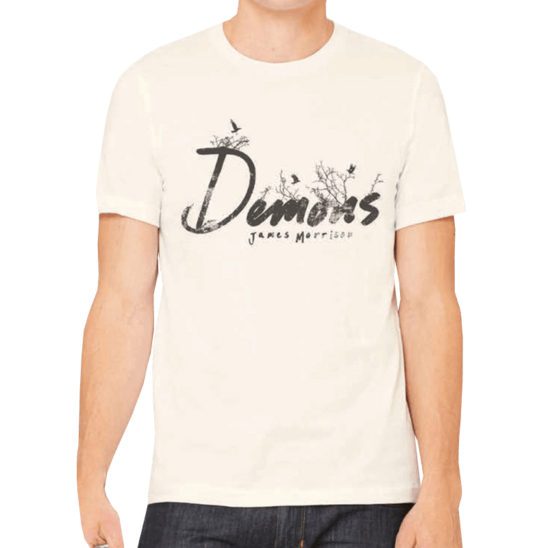 Buy Online James Morrison - Demons Ecru T-Shirt