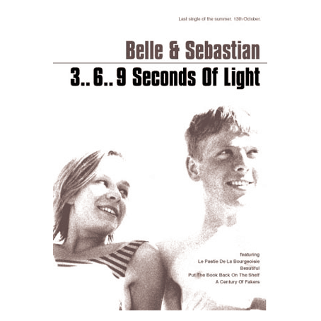 Belle and Sebastian - 3..6..9 Seconds Of Light 70 x 50cm Poster