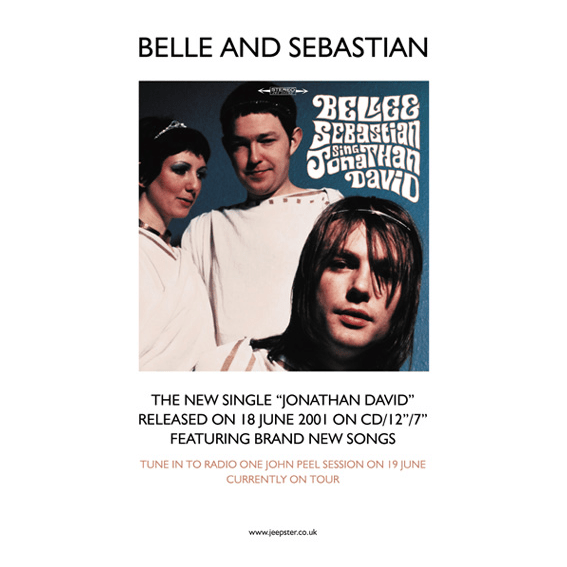Belle and Sebastian - Jonathan David 70 x 50cm Poster